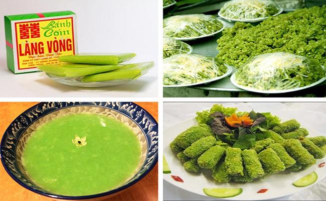Các món ăn chế biến từ Cốm làng Vòng